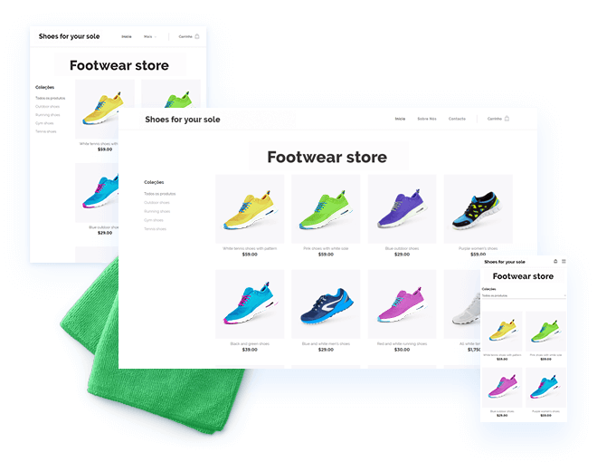 Templates de loja online responsivos